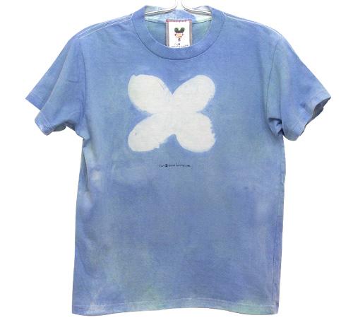 むら染めフラワーTシャツ