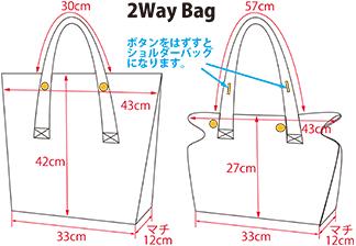 デニム製バッグサイズ