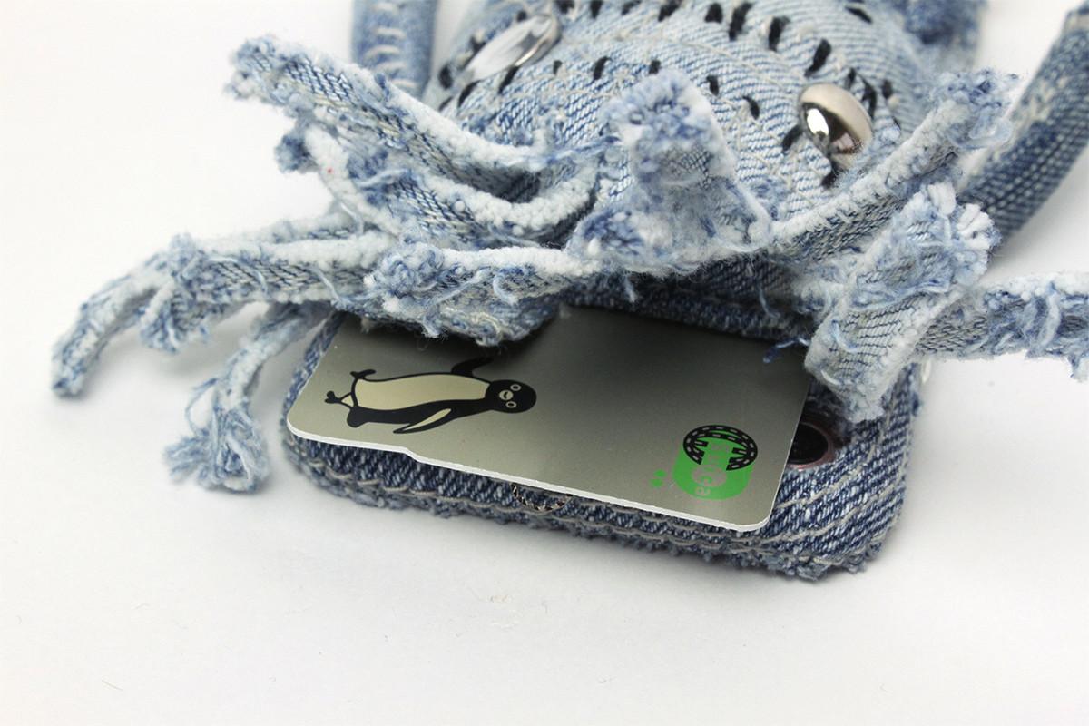 デニム製ぬいぐるみiPhoneケース